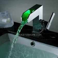 end led waterfall single handle bathroom faucet