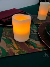 candle runners led candle runner with diy fluid acrylic pouring table decor