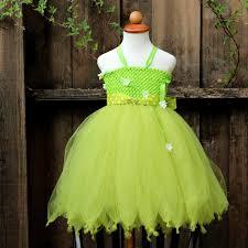 Garden Fairy Halloween Costume Tinkerbell Tutu Dress Saint Patricks Dress Garden Fairy
