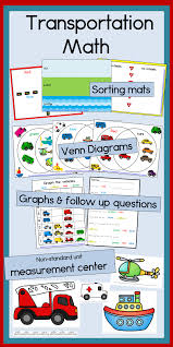 transportation math graphing sorting venn diagrams and