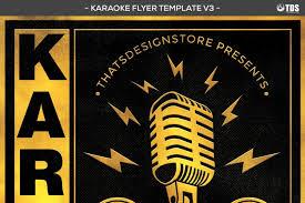 karaoke flyer template v3 by thats design store thehungryjpeg com
