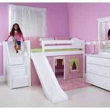 princess castle low loft bed twin size girls white playhouse