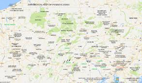 Pennsylvania Map With Cities And Towns judgmental maps