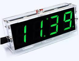 horloge de bureau 4 digit led électronique horloge de bureau diy kit lumière contrôle