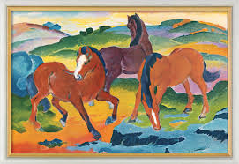 the red horses by franz marc