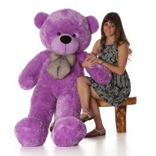 teddy bears deedee cuddles 55 lilac plush teddy purple