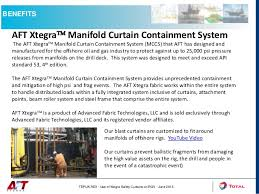 Ballistic Curtain Offshore Rig Productivity Using Aft Xtegra Manifold Curtain Containme U2026