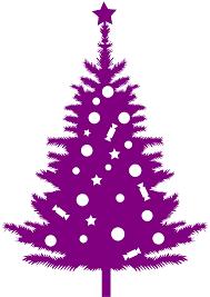 purple christmas tree christmas tree silhouette free vector silhouettes