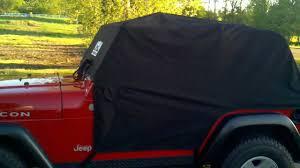 jeep wrangler cer top review of raingear cab cover for jeep wrangler