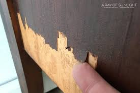 how to wood veneer furniture the best way to fix chipped wood furniture