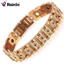 magnetic bracelet gold plated images Newest luxury cnc diamond gold plated jewelry magnetic bracelet jpg
