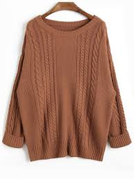 how does it take to knit a sweater drop shoulder plain cable knit sweater coffee sweaters one size