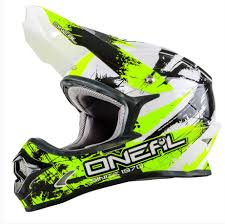 youth small motocross helmet oneal 2017 3 series shocker motocross helmet black neon yellow youth