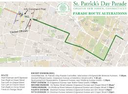 Frontier Route Map by Map New Haven St Patrick U0027s Day Parade Route Fox 61