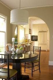 Curved Banquette Kitchen Traditional With Pretty Drum Pendant Lighting In Living Room Traditional With