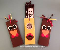 hershey u0027s candy bar stampin u0027 up paper sleeve happy thanksgiving