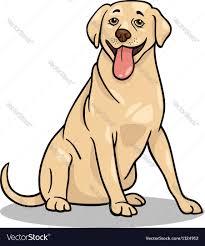labrador retriever dog cartoon royalty free vector image