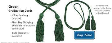 graduation cords cheap green graduation cords green cords from honors graduation