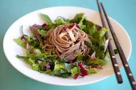 best soba noodle salad with sesame soy vinaigrette kimchimari