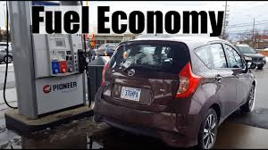 nissan versa gas mileage 2016 2017 nissan versa note fuel economy review fill up costs youtube