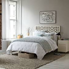 Curtains For Headboard Morocco Headboard White West Elm