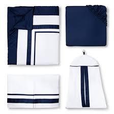 Navy Crib Bedding Sweet Jojo Designs 11pc Hotel Crib Set Navy Target