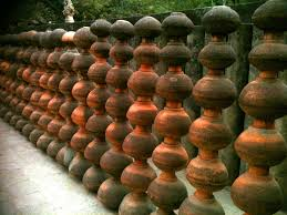 india travel pictures pots at rock garden chandigarh