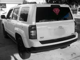 matte grey jeep patriot diamond outline sticker car stickers