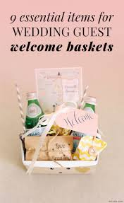 welcome wedding bags wedding welcome bags 9 things you must include for guests