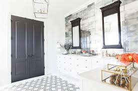 black hex bathroom tiles design ideas