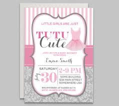ballerina baby shower invitations tutu baby shower invitation pink baby shower ballerina baby