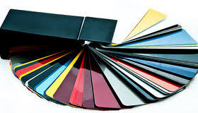 auto paint color selection stock vector image of background