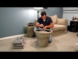 Installing A Plastic Backsplash Youtube by Installing A Standard Aqua Rock Fountain Kit In A Decorative Pot