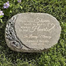 personalized garden stones your light shines memorial garden personal creations