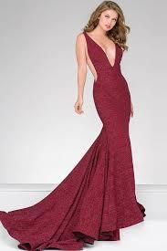 plunging neckline jovani fitted plunging neckline prom dress 47075 couturecandy