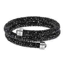 double bangle bracelet images Swarovski crystaldust black crystal double bangle bracelets jpg