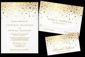 gold wedding invitations faux gold foil confetti wedding invitation save the