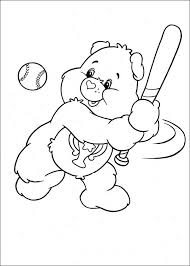 care bears ready hit ball care bears coloring pages