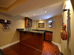 finished basement wet bar ideas with wall mounted cabinet wet bar