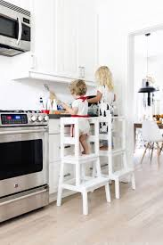make a toddler learning tower using a bekväm stool from ikea