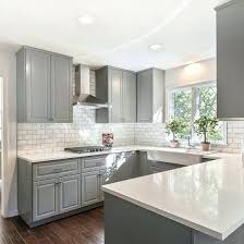 pictures of kitchen with white cabinets grey and white kitchens gray shaker cabinets white quartz counter