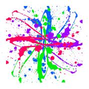 spray paint splatter multi color graffiti graphic t shirt