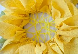 sunflower mesh wreath how to make a sunflower burlap wreath clumsy crafter