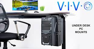 Under Desk Printer Stand With Wheels Amazon Com Vivo Adjustable Under Desk And Wall Pc Mount