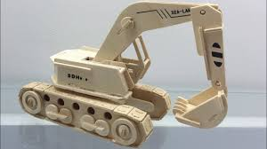 3d wooden puzzles diy assembled how to make a wooden excavator