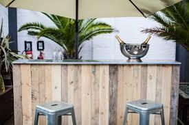 Zinc Top Bar Table Velvet Living