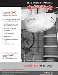 Overhead Door Legacy Owners Manual Garage Door Opener Model 2026 Garage Doors Design