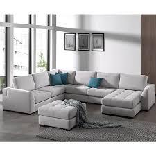 canapé panoramique tissu canapé panoramique gris en tissu vigo sofamobili