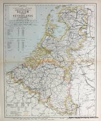 Map Of The Netherlands Antique Maps And Charts U2013 Original Vintage Rare Historical