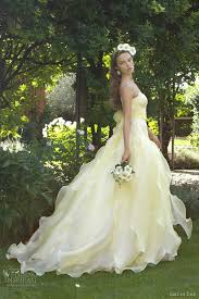 and white wedding dresses yellow wedding dresses bring a summer into your ceremony
